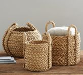 Pottery Barn Beachcomber Round Handled Baskets