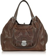 Robe Di Firenze Brown Italian Leather Tote