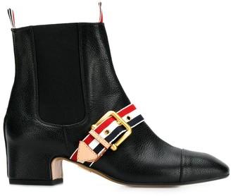 Thom Browne RWB-strap Chelsea boots