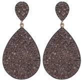 Lera Jewels Brown Diamond 2 Tier Teardrop Earrings