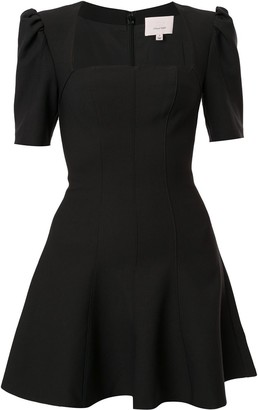 Cinq à Sept Square Neck Skater Mini Dress