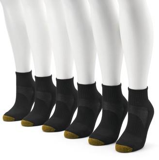 Gold Toe Women's GOLDTOE 6-Pack Sport Half-Cushion Quarter Socks