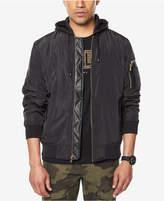 Sean John Men's Hooded Bomber Jacket