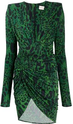 Alexandre Vauthier animal print ruched dress