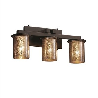 Salinas Brayden Studio 3-Light Vanity Light Brayden Studio Finish: Brushed Nickel, Shade Pattern: Caramel