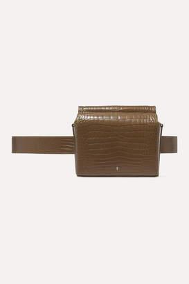 Gu De Gu de - Pitch Croc-effect Leather Belt Bag - Brown