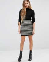 Brave Soul Stripe Mini Skirt