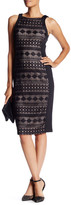 Maggy London Lace Paneled Midi Bodycon Dress