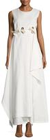 Max Mara Terme Cotton Asymmetrical Flared Dress