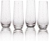 Mikasa Lustre Set of 4 Dots Platinum Stemless Flute Glasses