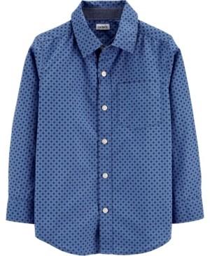 Carter's Little Boy Poplin Button-Front Shirt