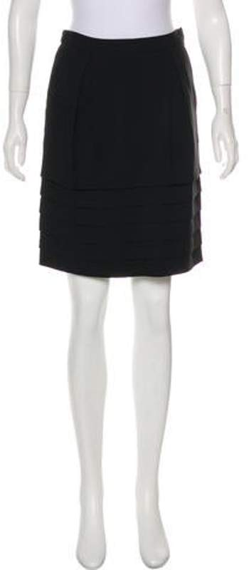 Marc Jacobs Tiered Pencil Skirt Black Tiered Pencil Skirt