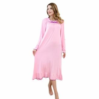 PHLCEhot Girls Cotton Long Sleeve Short Sleeve Nightdress Lace Princess Nighties White Pink Nightgown Sleepwear