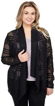 Rock and Roll Cowgirl Long Sleeve Full Lace Cardigan 46-8434