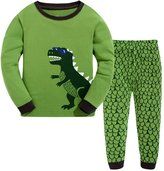 Frogwill Dinosaur Pajamas Boys Long Sleeve Pjs Set Size 2-10 Years