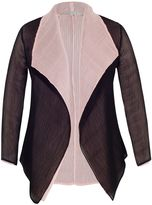 House of Fraser Chesca Plus Size Pink and Black Reversible Shrug