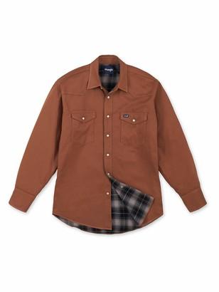 Wrangler mens Flannel Lined Work Shirt