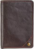 Hidesign Angle Stitch Leather Slim Trifold Wallet.