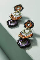 Anthropologie Beaded Chevron Drop Earrings