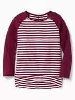 Old Navy Plush Sweater-Knit Baseball-Style Tunic for Girls