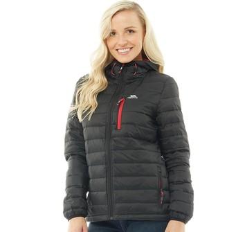 Trespass Womens Arabel Down Fill Padded Hooded Jacket Black