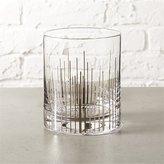 CB2 Precision Silver Double Old-Fashioned Glass