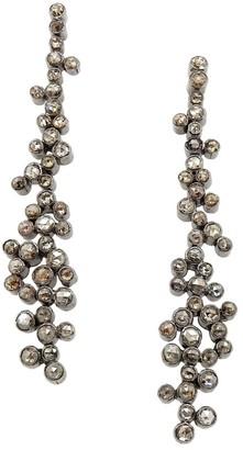 Nina Gilin 14K Yellow Gold, Black Rhodium Silver & Diamond Cluster Drop Earrings