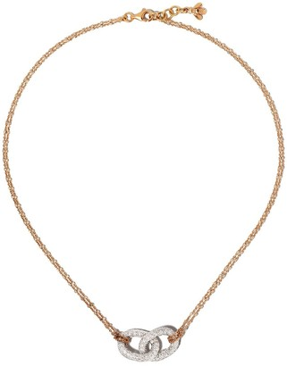 Carolina Bucci 18kt white and rose gold Links chain necklace
