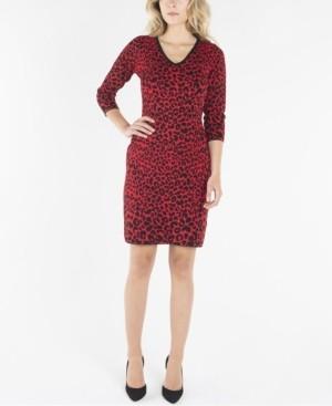 Nanette Lepore nanette V-Neck 3/4 Sleeve Shift Dress