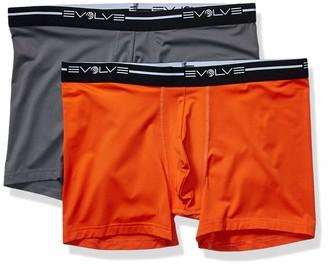 evolve E-volve Men's Breathable Comfort Stretch Boxer Briefs