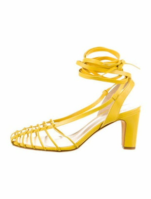 Maryam Nassir Zadeh Maribel Caged Sandals w/ Tags yellow
