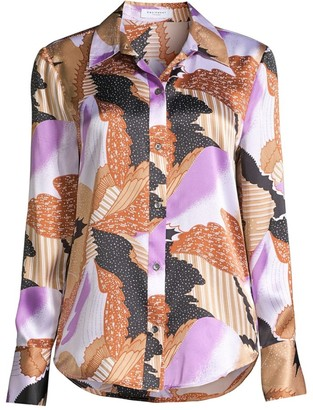 Equipment Sedienne Graphic-Print Silk Shirt
