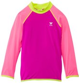 TYR Girls' UPF 50+ Long Sleeve Solid Rashguard (4yrs16yrs) - 8117737