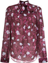 Carven pussy bow floral blouse