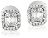 Effy Jewelry Effy Pave Classica 14K White Gold Diamond Stud Earrings, 0.48 TCW
