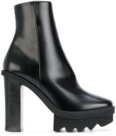 Stella McCartney platform ankle boots - women - Artificial Leather/Aligator Leather/rubber - 36