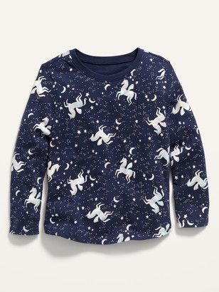 Old Navy Printed Long-Sleeve Scoop-Neck Tee for Toddler Girls