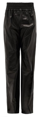 Gabriela Hearst Themis High-rise Leather Flared Trousers - Black