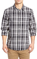 Dockers Fitted Washed Print Woven Modern Fit Shirt