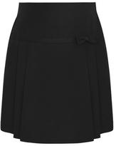 George Girls School Bow Trim Pleat Skirt