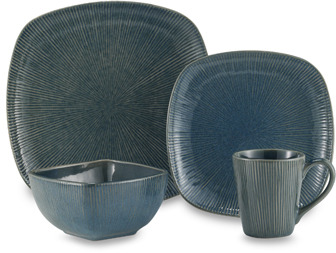 Bed Bath & Beyond Radiant Lines 16-Piece Dinnerware Set - Denim