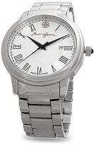 Mark & James by Badgley Mischka Silver & White Stainless Steel Watch