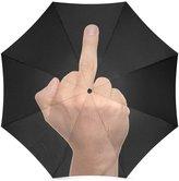 Funny Finger Umbrella Design Funny Middle Finger Custom Folding Sun/Rain Umbrella, Folding Portable Outdoor Rain /Sun Umbrella Beach Travel Shade Sunscreen Anti-UV For Women/Men