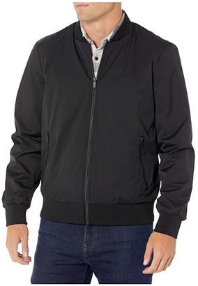Calvin Klein Lightweight Matte Bomber Jacket (Black) Men's Coat