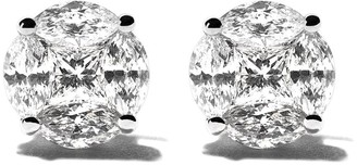 As 29 18kt white gold Mye round illusion diamond stud earrings