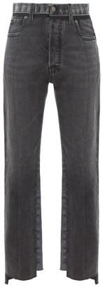 Maison Margiela Raw-hem Panelled Straight-leg Jeans - Black