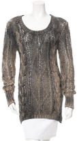 Avant Toi Cable Knit Scoop Neck Sweater w/ Tags