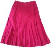 Chanel Red Silk Skirt for Women Vintage