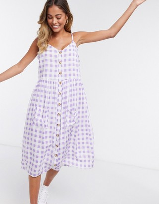 Daisy Street midi cami dress in gingham