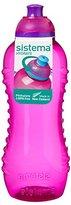 N. Sistema Hydrate Twist 'n' Sip Water Bottle, 460 ml - Pink